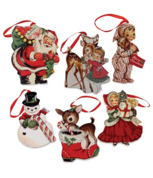 Retro Christmas Dummy Board Ornament 6/A