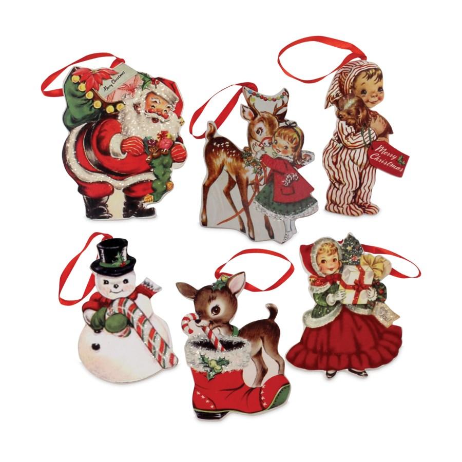 Retro Christmas Dummy Board Ornament 6A