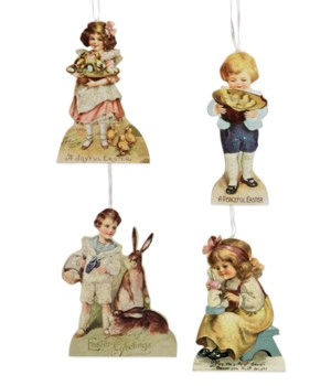 Spring Children Dummy Board Ornament 4A
