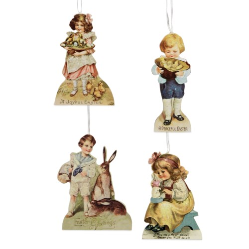 Spring Children Dummy Board Ornament 4/A