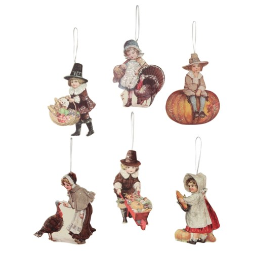 Thanksgiving Child Dummy Board Ornament 6A