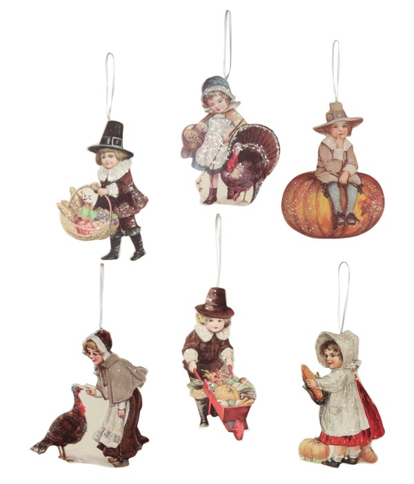 Thanksgiving Child Dummy Board Ornament 6A