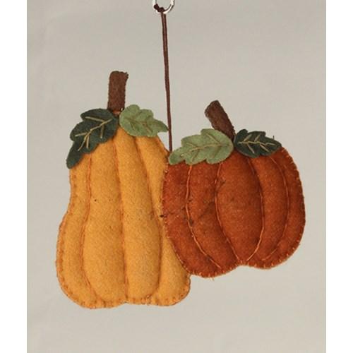 Fall Pumpkin Applique Ornament