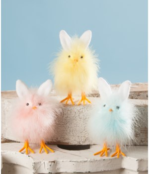 Fuzzy Chicks with Bunny Ears 3/A