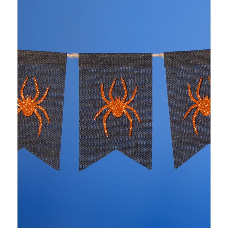 Halloween Spider Pennant Garland
