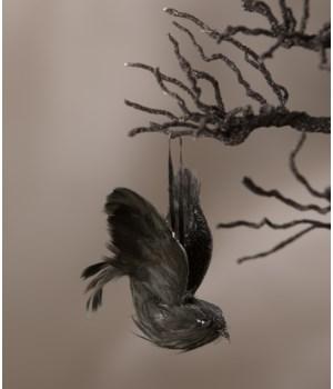 Feathered Crow Mini Ornament