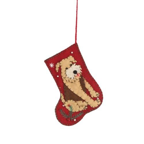 Good Boy Applique Stocking Ornament