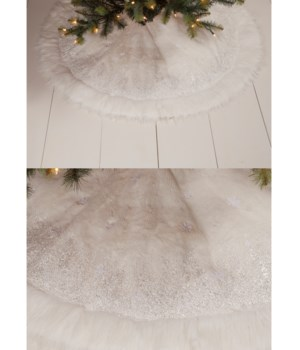 Winter Snowflake Tree Skirt 48""