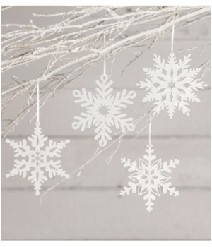 Winter Glittered Snowflake Ornament 4/A