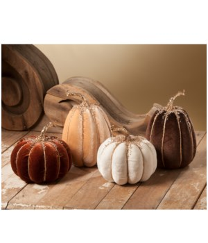 Elegant Fall Velvet Pumpkin 4A