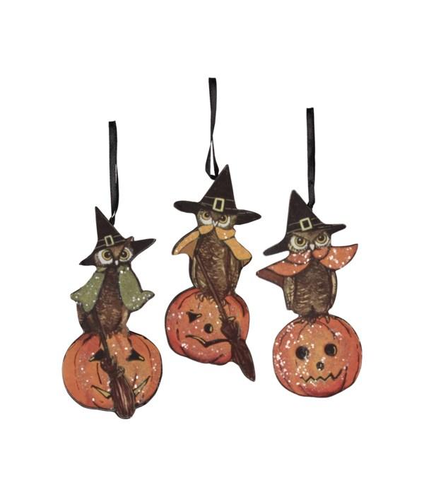 Halloween Owl Dummy Board Ornament 3A