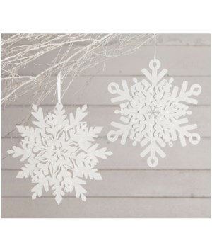 Glittered Snowflake Large 2A