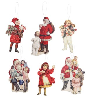 Traditional Christmas Dummy Board Ornament 6/A