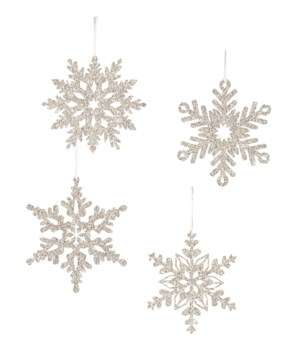 Platinum Snowflake Small Ornament 4/A