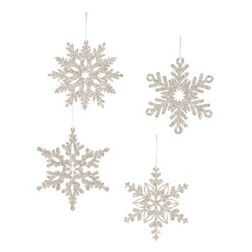 Platinum Snowflake Small Ornament 4A