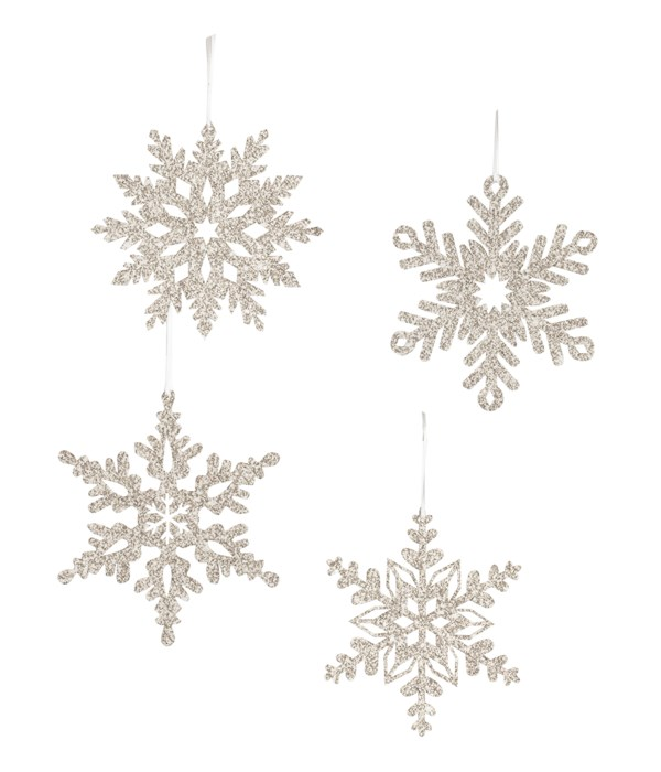 Platinum Snowflake Small Ornament 4A