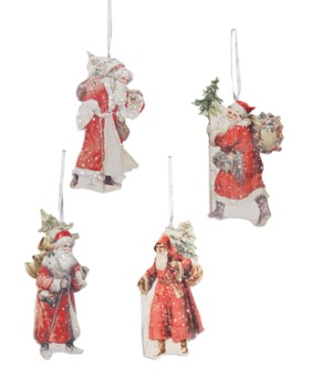 Traditional Santa Dummy Board Ornament 4A