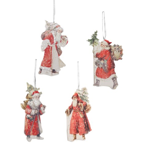 Traditional Santa Dummy Board Ornament 4/A