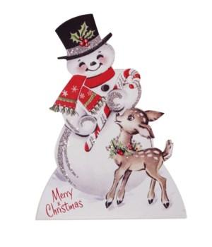 Sparkle Snowman With Deer Dummy Board