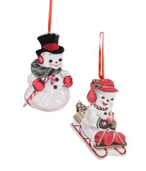 Playful Snowman Dummy Board Ornament 2A