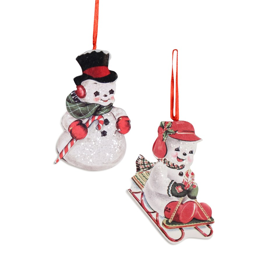 Playful Snowman Dummy Board Ornament 2/A