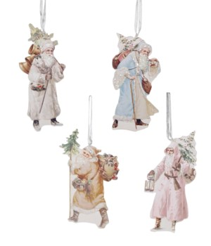 Pastel Santa Dummy Board Ornament 4A