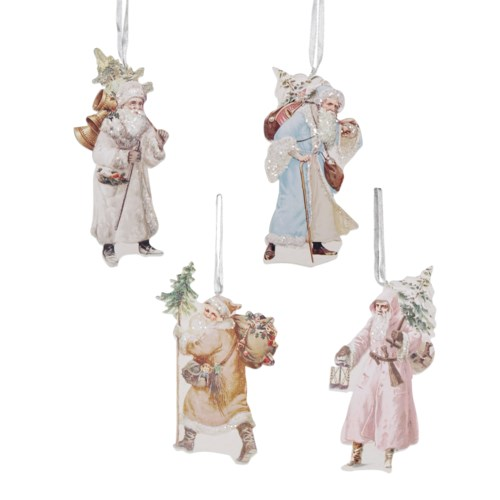 Pastel Santa Dummy Board Ornament 4/A