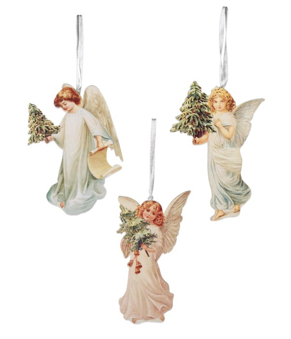 Angel With Tree Dummy Board Ornament 3A