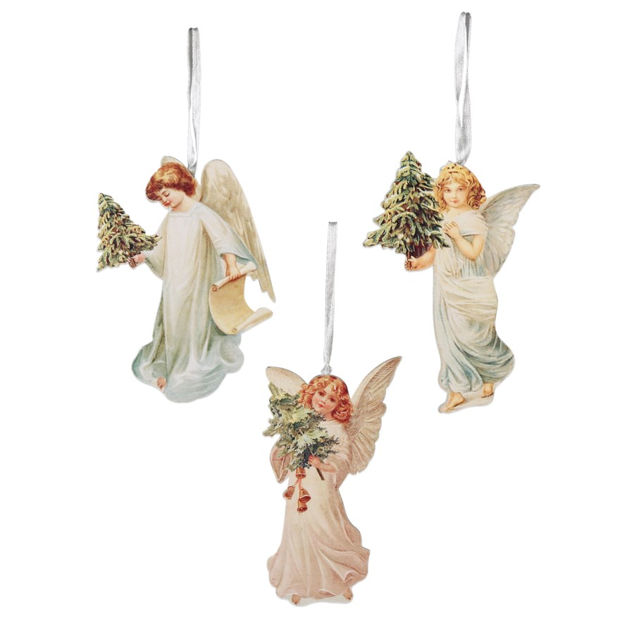 Angel With Tree Dummy Board Ornament 3/A
