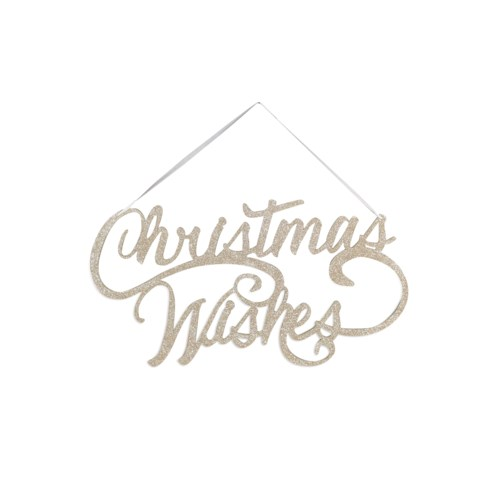 Christmas Wishes Sign Ornament