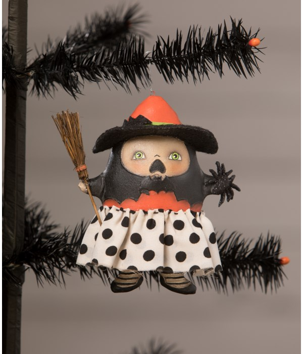 Startled Stella Witch Ornament