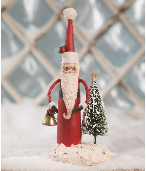 Tall Santa With Tree
