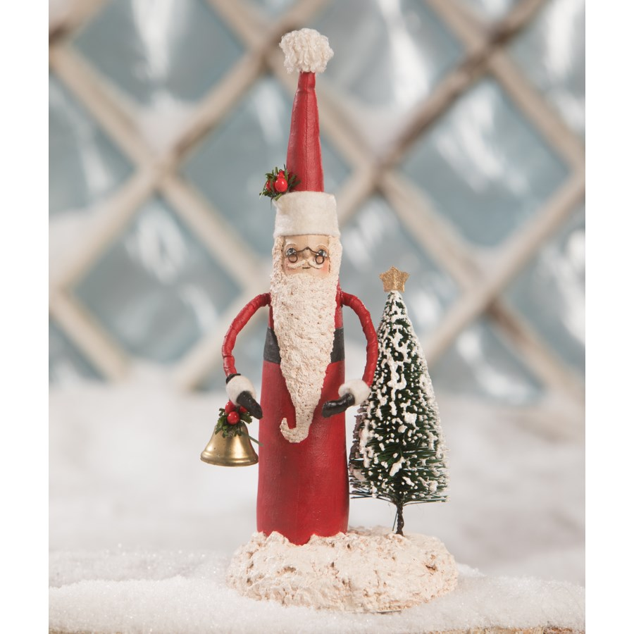 Tall Santa With Tree