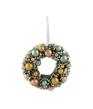 Mini Pastel Bottle Brush Wreath