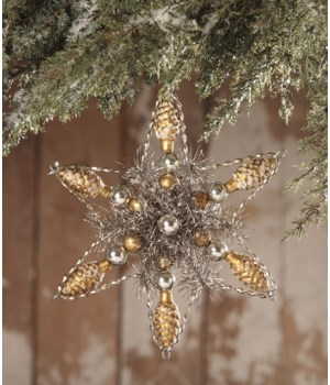 Vintage Glass Pinecone Star Ornament