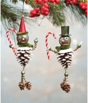 Flea Market Pinecone Man Ornament 2/A