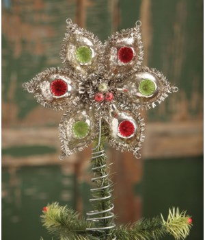 Glass Indent Onion Tree Topper Traditional