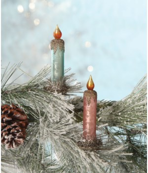 Pastel Candle Clip Ornament 2/A