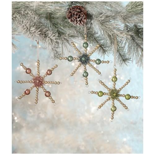 Pastel Bead Starburst Ornament 3/A