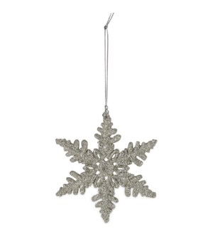 Platinum Glitter Snowflake