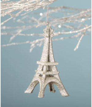 Platinum Eiffel Tower Ornament