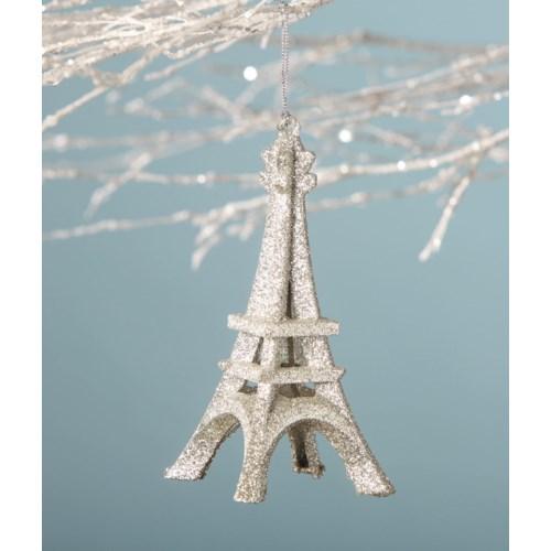 Platinum Eiffel Tower Ornament