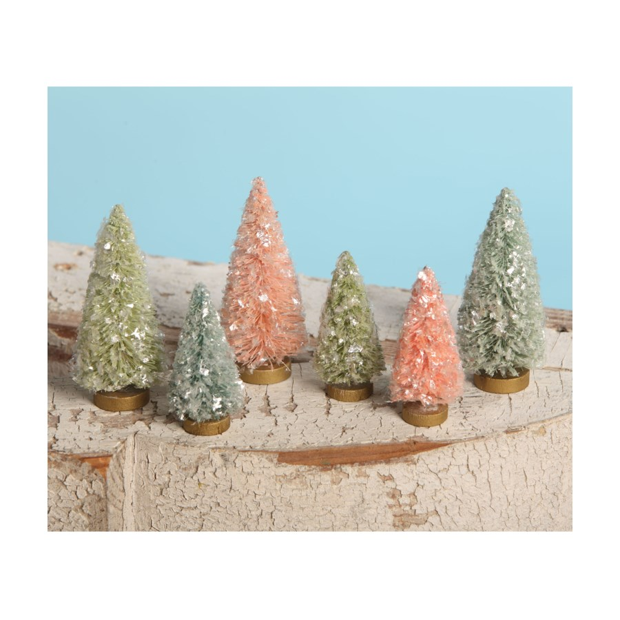Flea Market Bottle Brush Trees Pastel S6