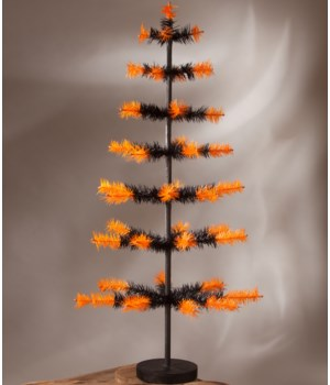 Halloween Two-Toned Feather Tree 36""