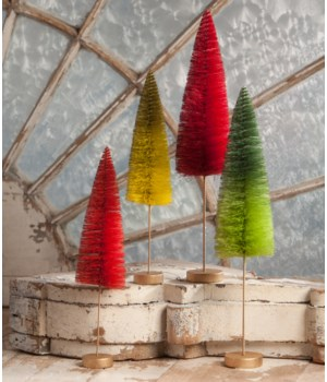 Christmas Bottle Brush Forest S/4