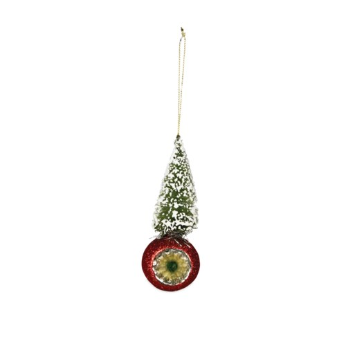 Bottle Brush Indent Ornament