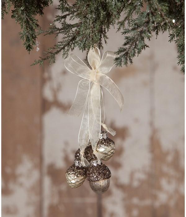 Elegant Pine Cone Acorn Dangle Ornament