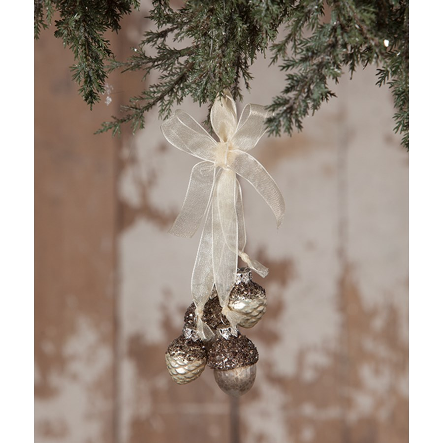 Elegant Pine Cone Acorn Dangle Ornament
