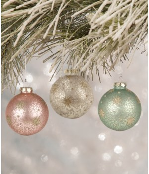 Pastel Star Ball Ornament 3/A