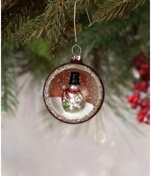Dapper Snowman Indent Ornament